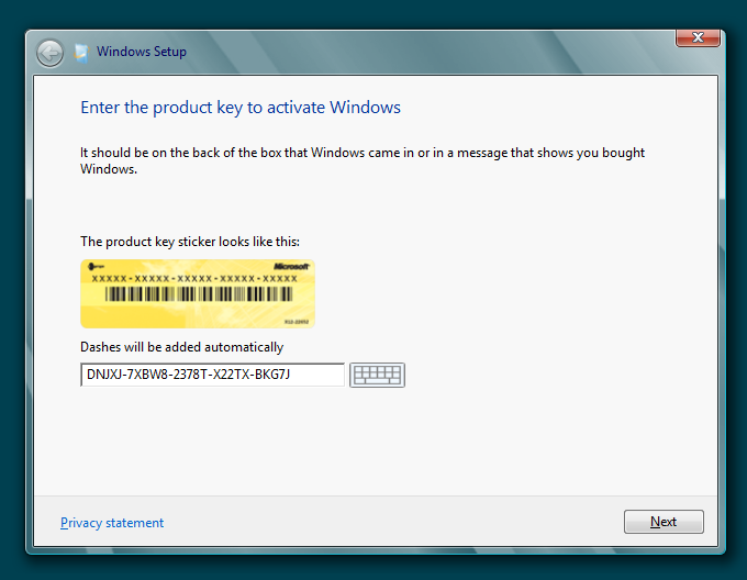 Windows 8 Serial Product Key