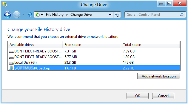 how to change drive download location